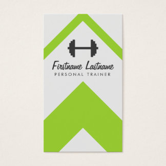 Personal Trainer & Fitness Bright & Bold Business Card