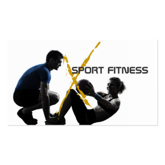 Personal Trainer, Fitness Business Card
