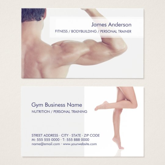 Personal Trainer Fitness Gym business card