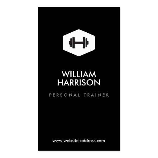 PERSONAL TRAINER, FITNESS INSTRUCTOR LOGO BUSINESS CARD TEMPLATES