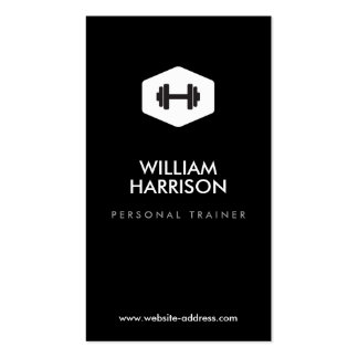 PERSONAL TRAINER, FITNESS INSTRUCTOR LOGO PACK OF STANDARD BUSINESS CARDS