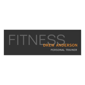 Personal Trainer Modern Elegant Professional Mini Business Card