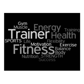 Personal Trainer or Fitness Center Post Card