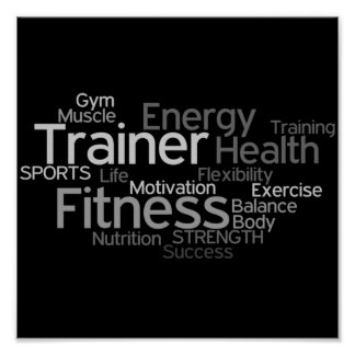 Personal Trainer or Fitness Centre Poster
