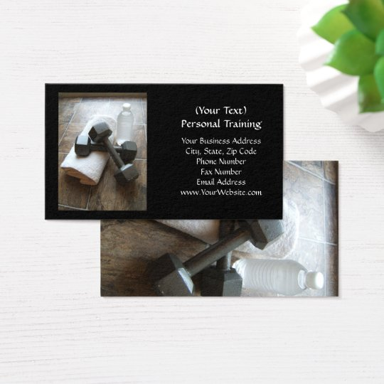 Personal Trainer or Fitness Dumbells Towel & Water