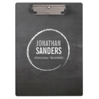 PERSONAL TRAINER SKETCH LOGO Personalised Clipboards