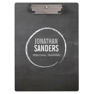 PERSONAL TRAINER SKETCH LOGO Personalized Clipboard