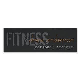 Personal Trainer Skinny Elegant Business Card