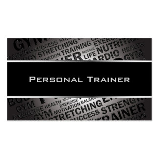 Personal Trainer Unique Business Card