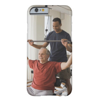 Personal trainer with man in home gym barely there iPhone 6 case