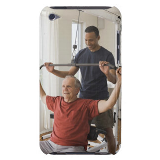 Personal trainer with man in home gym Case-Mate iPod touch case