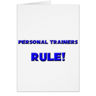 Personal Trainers Rule Card
