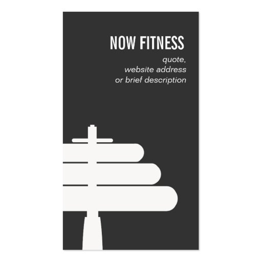 Personal Training Instructor Simple Black Business Card Templates