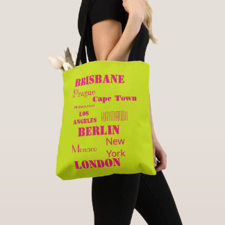 Personal Travel Destination Wish List Tote Bag