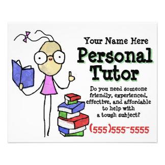 Personal Tutor.Tutoring.Study Help. Promotional 11.5 Cm X 14 Cm Flyer