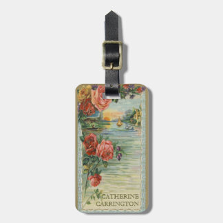 Personal Vintage Victorian Luggage Tag