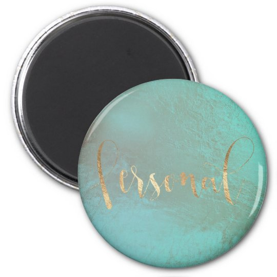 Personal Weekly Planner Aqua Green Foxier Gold Magnet