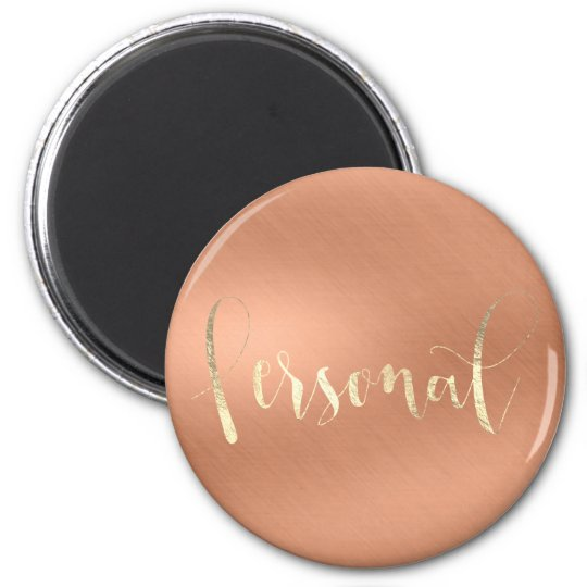 Personal Weekly Planner Rose Champaign Copper Gold Magnet