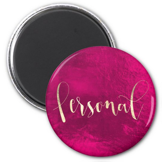 Personal Weekly Planner Rose Champaign Pink Gold Magnet