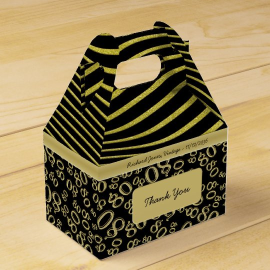 Personalise: 80th Birthday Gold and Black Theme Wedding