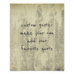 personalise a custom poster add a favourite quote