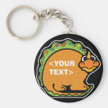 Personalise a Dinosaur, <YOUR TEXT> Keychain