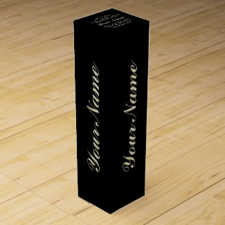 Personalise Aged To Perfection Black Wine Gift Box