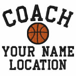 Personalise Basketball Coach Your Name Your Game! Embroidered Track Jacket