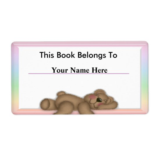 Personalise Book Labels for Kids