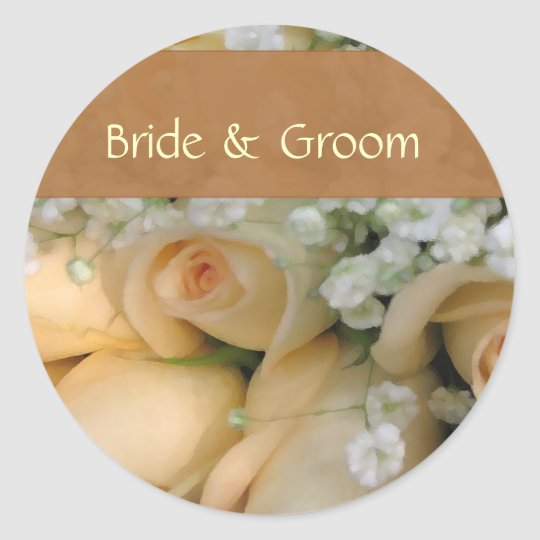 Personalise bride and groom stickers