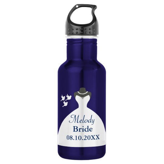 Personalise Bride Wedding Gown 532 Ml Water Bottle