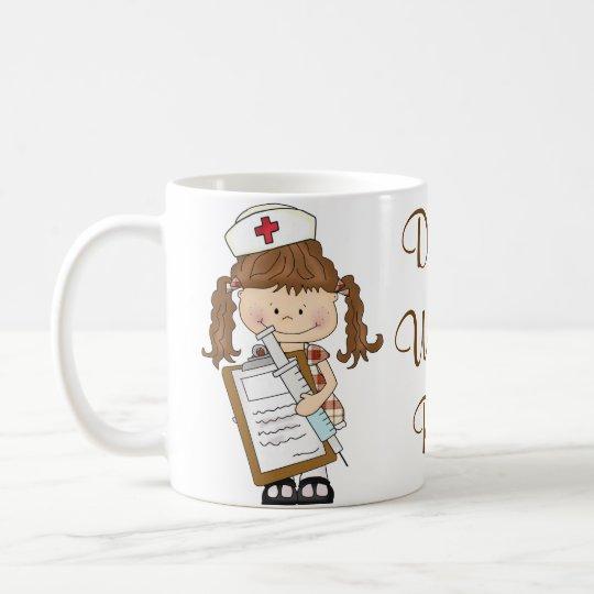 Personalise Brunette Nurse Gifts! Coffee Mug