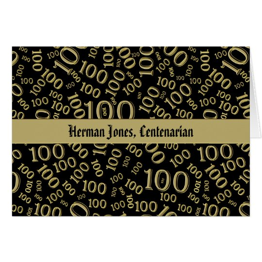 Personalise: Centenarian, 100th Birthday Theme Card