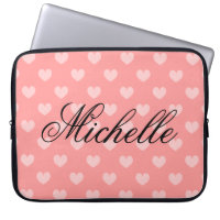 Personalise heart pattern laptop sleeve