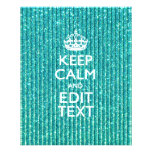 Personalise Easily KEEP CALM AND Edit Text 11.5 Cm X 14 Cm Flyer