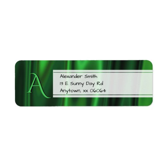 Personalise:  Faux Green Satin Fabric Texture