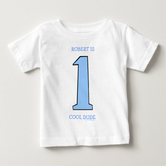 Personalise First Birthday Baby Son Funny Baby T-Shirt