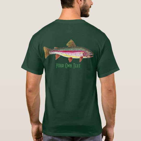 Personalise Fly Fishing for Rainbow Trout Angler T-Shirt