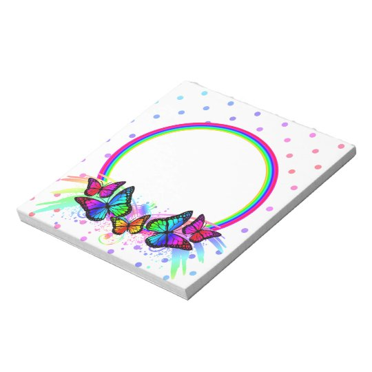 Personalise Girls Bright Colourful Neon Notepad