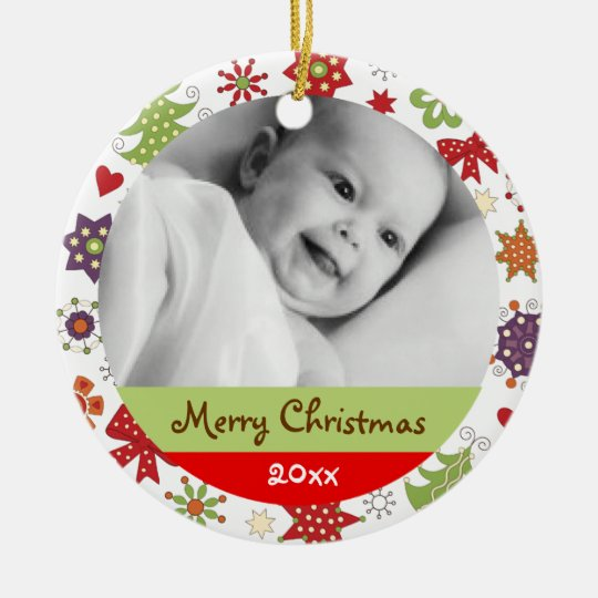 Personalise Holiday Greetings Ornament