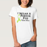 Personalise I Wear a Lime Green Ribbon Tees