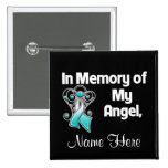 Personalise In Memory of My Angel Cervical Cancer Button