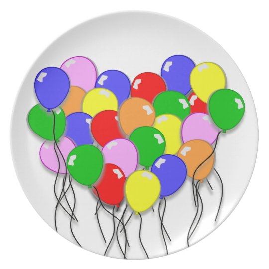 Personalise It - Bunch of Balloons Plate