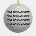Personalise it, Golf Ball Round Ceramic Decoration