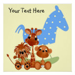 Personalise Large Canvas Jungle Babies Posters