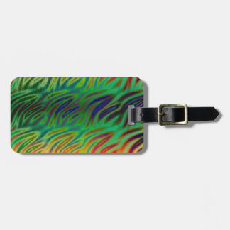 Personalise Multi Color Wave Green Luggage Tag