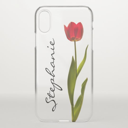 Personalise: One Red Tulip Floral Photography iPhone X