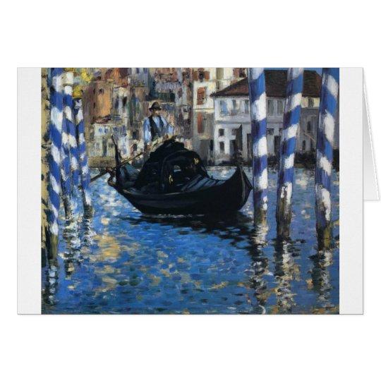 Personalise Peace Water Stream Boats Art Edouard Card