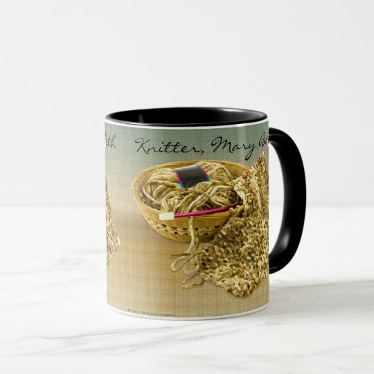 Personalise: Picture of Hand Knit Chenille Yarn Mug