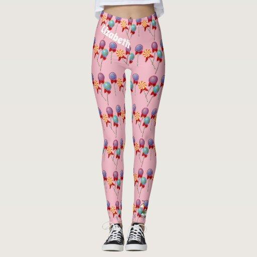 Personalise Pink Artistic Artsy Stylish Leggings